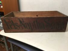 Rare Antique Fels - Naptha Soap Wood Advertising Shipping Crate Box #2