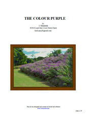 THE COLOUR PURPLE - cross stitch chart
