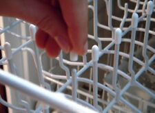 50 Universal White Dishwasher Rack Tine Tip Cover Caps   Just Push On to Repair