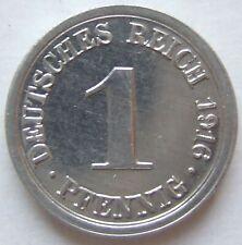 Erstabschlag! 1 Pfennig 1916 G in fast Stempelglanz Sehr selten !!!