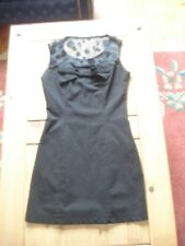 Little Black Dress Size 10 Bow and Netting Detail