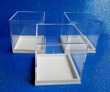 10 Perspex Clear Lid Square/Cube Fossil Specimen Crystal Display Box 50 x 50mm