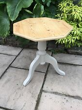Country Style Small Painted Pedestal Side Table / Lamp Table