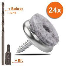 24Stck Filzgleiter mit Torx-Schrauben Möbelgleiter Stuhlgleiter Schoner 24mm