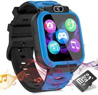 Kids Smart Watches for Girls Boys, Cell Phone Watch for Kids Educational, (Blue)