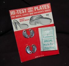 Vintage Sole/Heel plates on card includes nails made in U.S.A.