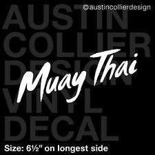"6.5"" MUAY THAI vinyl decal car truck window laptop sticker - martial arts mma"