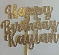 Custom Cake Topper Happy Birthday  Glitter Any Words, Date,