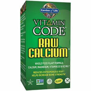 Garden of Life Vitamin Code RAW CALCIUM 120 Veg Capsules