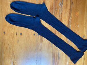 Men Brooks Brothers OTC Over the Calf Navy Dress Socks 100% Cotton Sheer Size 9