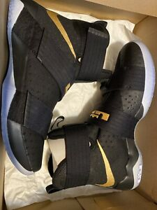 Nike Lebron Soldier X 10 Championship Pack iD Black Gold SIZE 11.5 DS NEW