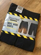 "Mens Work Wear Shorts Brand New 40"" Waist Bnwt Black"