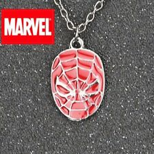 "Spiderman Mask metal Pendant w/ 20"" Ball Chain Necklace marvel homecoming cospla"