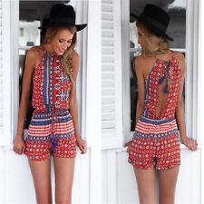 New Fashion Women Clubwear Flora Playsuit Bodycon Party Jumpsuit&Romper Trousers