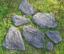 7tlg. Gießform Polygonalsteine Polygonalplatten Verblender  Beton Stein G0476