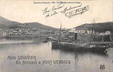 CPA 66 MON SOUVENIR DE PORT VENDRES LA MARSA ARRIVANT D'ALGER