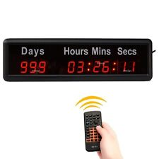 1'' Digital High Event Timer Counts Down/Up 1000 Days Indoor LED Countdown Clock