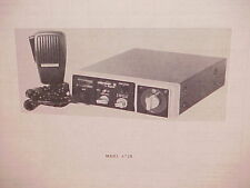 1977 HY-GAIN CB RADIO SERVICE SHOP MANUAL MODEL 672B
