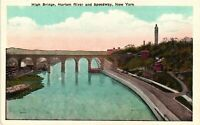 Vintage Postcard - High Bridge Harlem River And Speedway New York NY #4293