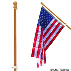 Pine Wooden House Flag Pole 56 In
