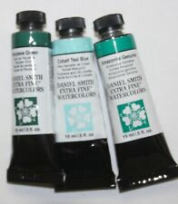 3 DANIEL SMITH Extra Fine Watercolor Paint:15ml--TEAL GREEN'S -Series 2