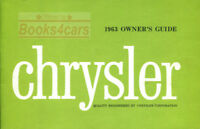CHRYSLER 1963 OWNERS MANUAL BOOK
