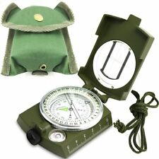 Professional Military Army Metal Sighting Compass Clinometer Camping Hiking