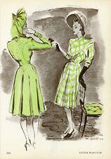 """""""LUCILE MANGUIN"""" Annonce originale entoilée PLAIRE 1945 M. PINTA"""