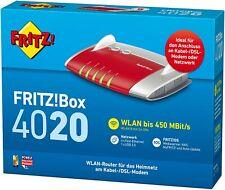 AVM FRITZ!Box 4020 WLAN-Router DSL WLAN N 450 für Kabel, Glasfaser, DSL