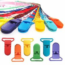 10Pcs Random Color Mom Holder Baby Pacifier Clips Dummy Plastic Soother Clasp