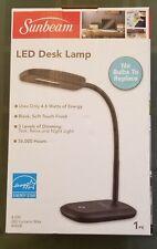 SUNBEAM Touch Switch LED Gooseneck Desk Lamp - 3 Dimmer Levels - Black