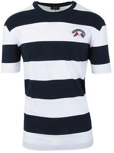 PAUL & SHARK YACHTING Herren Kurzarm T-Shirt Shirt Rundhals XL Blau Gestreift