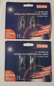 G9 Halogen Capsule energy Saver Light Bulbs18W/28W  Clear 240V Pack of 2 Lamps