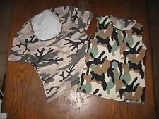 Lot de 2 tops camouflage - taille L - Jennifer et Période bleu