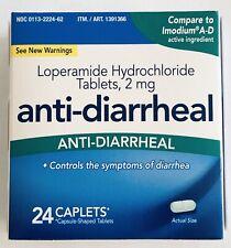 Kirkland Anti-Diarrheal HCI 2mg 24 Caplets By Costco.