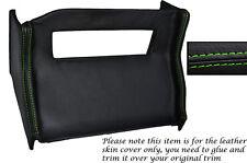 Verde Stitch Centro Consola Radio Envolvente De Cuero Skin Tapa se ajusta Mg Mgb 72-76