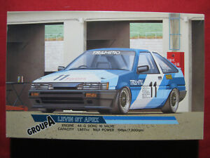 1985 Toyota Levin GT Apex Group A Racing Touring 1/24 Fujimi Vintage Kit Rare