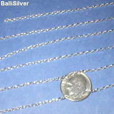 By the foot Silver CHAIN Diamond Cut OVAL ROLO 1.7x3mm