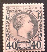 Monaco N°740c Bleu/rose Signe Calves TB Centrage Qualité Cote125€+30%