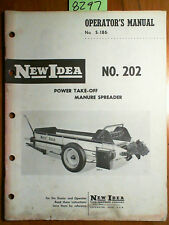 New Idea 202 Power Take-Off PTO Manure Spreader Owner Operator & Parts Manual 61