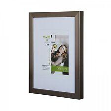 Nielsen Apollo Dark Silver Wood Picture Frame 30 x 40 cm A4 Mount