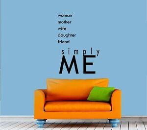 "Women Mother Wife Vinyl Decal Home Décor 12"" x 8"""