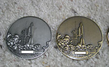 COMPLETE set of TWO geocoins! Space Shuttle, Astrolabe, 2008, Ultra Rare!