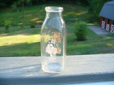 Old 1952 Ritchey's Dairy Red Paint Pint Milk Bottle Martinsburg Pa Blair County