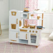 Kidkraft Modern White Vintage Kitchen with Accessory Set | Wooden Toy Kitchen