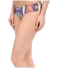 O Neill Goa Shirred Back Paisley Summer Hipster Bikini Bottom Purple Size M