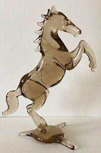 Vintage Murano Handmade Art Glass Rearing Horse Figurine Figure Sculpture