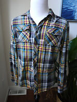 Zoo York plaid shirt multi-color L Large S Small Pit to Pit 20