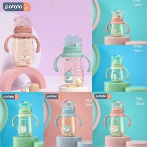 1/2Pack Babyflasche Baby Flasche PPSU Baby Bottles Anti-Kolik 180ml 300ml POTATO