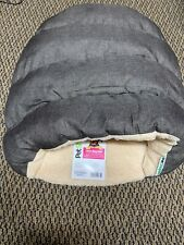 Pet Shoppe Cave Dog Bed Extra Small/Small Size Dogs Puppy Dark Beige Plush NWT